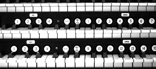Keys of Aeolian Organ Console, Longwood Gardens, December 2011