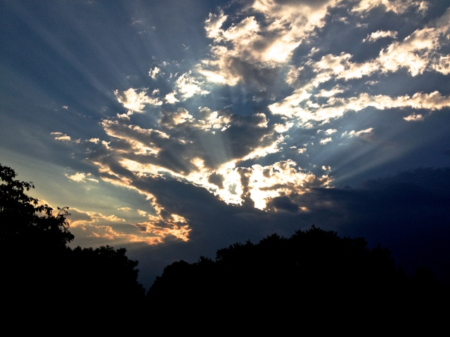 2. Sunset, iPhone 4s, October 2012; © Sally W. Donatello and Lens and Pens by Sally, 2012