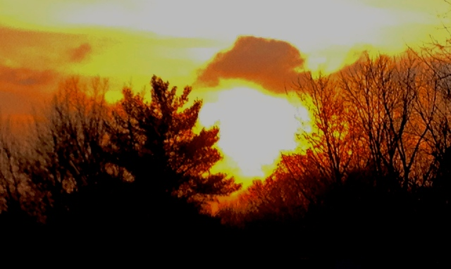 4. Sunset, iPhone 4s, November 2012; © Sally W. Donatello and Lens and Pens by Sally, 2012