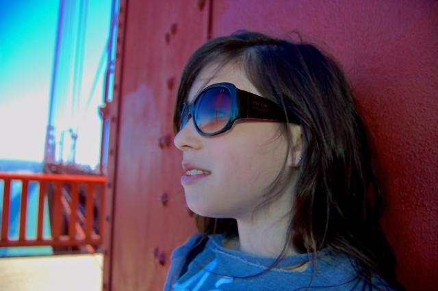 9. My Granddaughter, Nikon DSLR, Golden Gate Bridge San Francisco, June 2012; © Sally W. Donatello and Lens and Pens by Sally, 2012