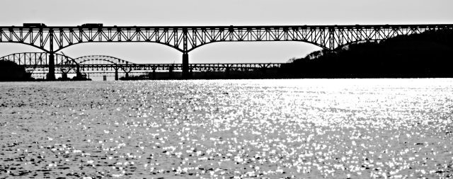 1. Susquehanna Bridge, Susquehanna River, Nikon DSLR, January 2013; © Sally W. Donatello and Lens and Pens by Sally, 2013