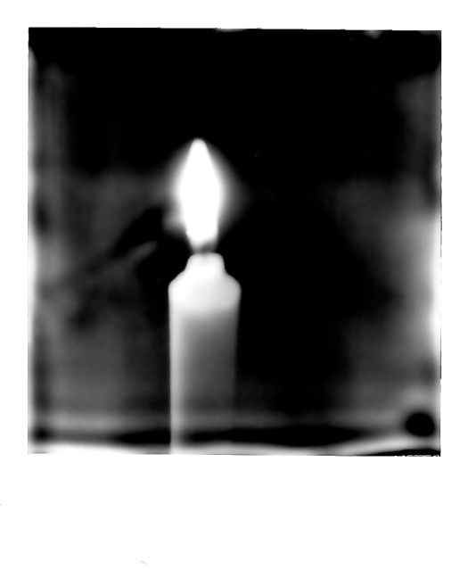 1. Flame, Polaroid SX-70, January 2013; © Sally W. Donatello and Lens and Pens by Sally, 2013