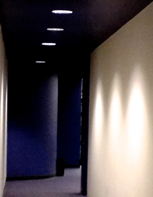 5. Library Corridor, iPhone 4s, January 2013; © Sally W. Donatello and Lens and Pens by Sally, 2013