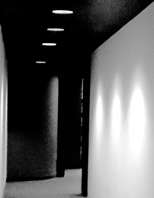 6. Library Corridor, iPhone 4s, January 2013; © Sally W. Donatello and Lens and Pens by Sally, 2013