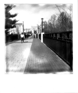 Bridge, UD Campus, Polaroid, November 2012; © Sally W. Donatello and Lens and Pens by Sally, 2013