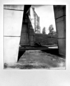 Under the Bridge, UD Campus, Polaroid, November 2012; © Sally W. Donatello and Lens and Pens by Sally, 2013