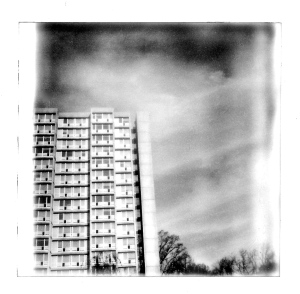 Skyline, Polaroid, November 2012; © Sally W. Donatello and Lens and Pens by Sally, 2012