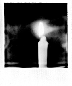 Flame, Polaroid, January 2013; © Sally W. Donatello and Lens and Pens by Sally, 2013
