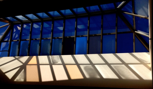 4. Vaulted Ceiling, UD Library,  iPhone 4s, February 2013; © Sally W. Donatello and Lens and Pens by Sally, 2013