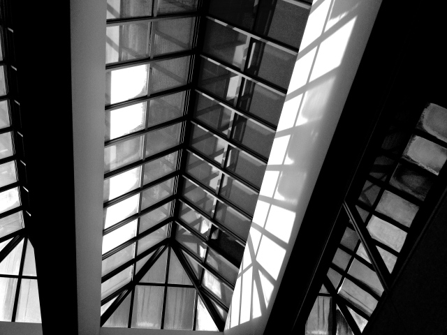 5. Vaulted Ceiling, UD Library,  iPhone 4s, February 2013; © Sally W. Donatello and Lens and Pens by Sally, 2013