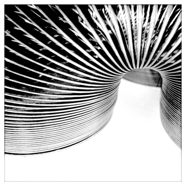 3. Slinky, iPhone 4s, May 2013; © Sally W. Donatello and Lens and Pens by Sally, 2013