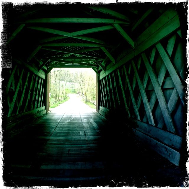 Ashland Covered Bridge, iPhone 4s, April 2013; © Sally W. Donatello and Lens and Pens by Sally, 2013