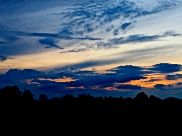 1. Sunset, iPhone 4s, May 2013; © Sally W. Donatello and Lens and Pens by Sally, 2013