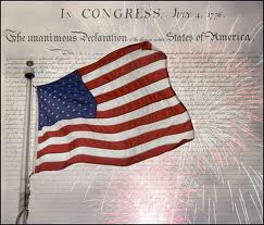 American Flag, Declaration of Independence, Google images