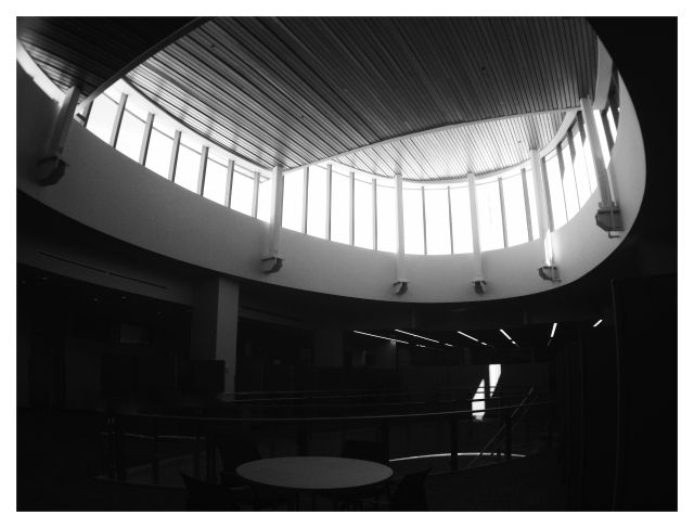 2. Atrium, ISE Building, iPhone 4s, September 2013; © Sally W. Donatello and Lens and Pens by Sally, 2013