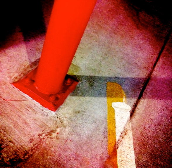 2. Parking Garage Floor, iPhone 4s, September 2013; © Sally W. Donatello and Lens and Pens by Sally, 2013