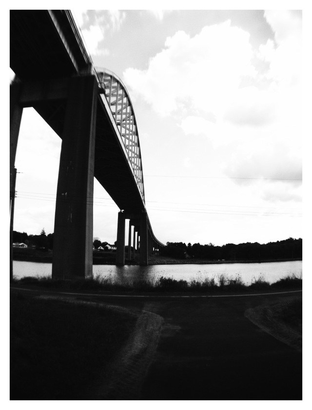 2. St. Georges Bridge, Delaware, iPhone 4s, September 2013; © Sally W. Donatello and Lens and Pens by Sally, 2013