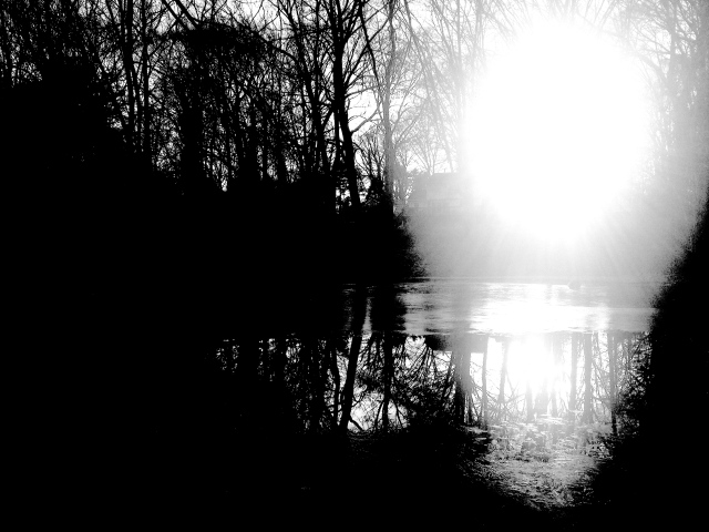 1. Sunset on the Pond, iPhone 4s, January 2013; © Sally W. Donatello and Lens and Pens by Sally, 2014