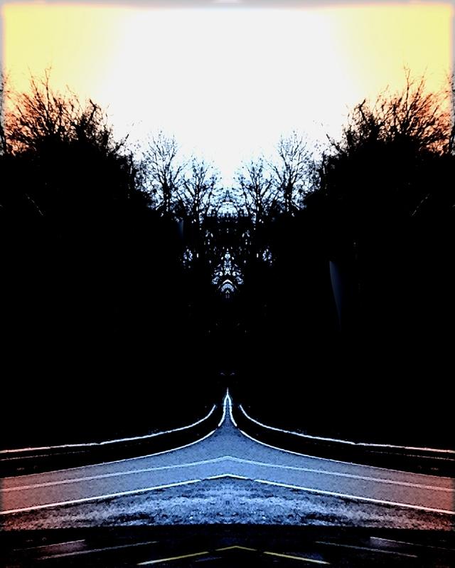 2. Paths to Somewhere, iPhone 4s, December 2013; © Sally W. Donatello and Lens and Pens by Sally, 2014
