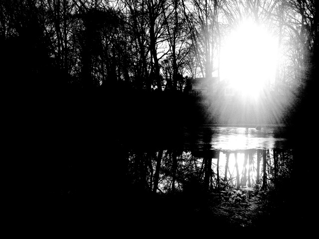 2. Sunset on the Pond, iPhone 4s, January 2014; © Sally W. Donatello and Lens and Pens by Sally, 2014