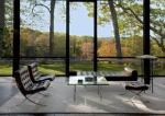 Philip Johnson's Glass House, View from Inside