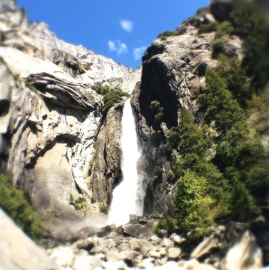 5. Bridleveil Falls, Tunnel View, Yosemite National Park, iPhone 4s, April 2014; © Sally W. Donatello and Lens and Pens by Sally, 2014