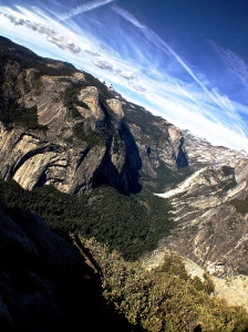 6. View from Glacier Point, Yosemite National Park, iPhone 4s, April 2014; © Sally W. Donatello and Lens and Pens by Sally, 2014