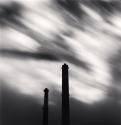 Two Factory Chimneys, Sapporo, Japan, 2008, Michael Kenna