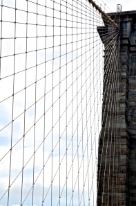 Cables of the Brooklyn Bridge,  New York, Nikon DSLR; Copyright © 2014 Sally W. Donatello All Rights Reserved/Lens and Pens by Sally