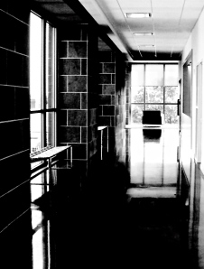 3. Hallway and Reflections, iPhone 4s; Copyright © 2014 Sally W. Donatello All Rights Reserved/Lens and Pens by Sally