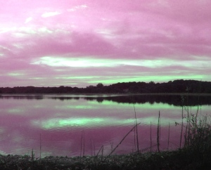 2. Sunset at the Reservoir; Copyright © 2014 Sally W. Donatello All Rights Reserved/Lens and Pens by Sally
