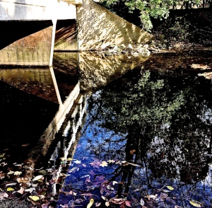 1. Bridge over the Creek;  Copyright © 2014 Sally W. Donatello All Rights Reserved/Lens and Pens by Sally
