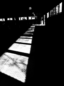 1. Afternoon Light in Parking Garage; Copyright © 2015 Sally W. Donatello All Rights Reserved/Lens and Pens by Sally