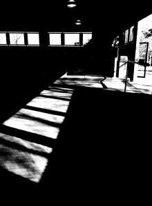 2. Afternoon Light in Parking Garage; Copyright © 2015 Sally W. Donatello All Rights Reserved/Lens and Pens by Sally
