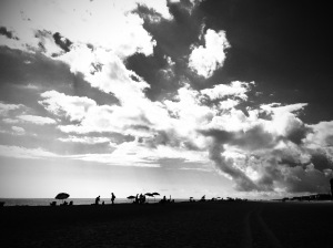 1. Silhouettes on the Beach; Copyright © 2015 Sally W. Donatello All Rights Reserved