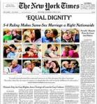 """Equal Dignity,"" The New York Times, 27 June 2015"
