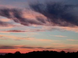 1. Cloudscapes at Sunset, Reservoir; Copyright © 2016 Sally W. Donatello All Rights Reserved