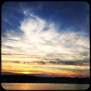 2. Cloudscapes at Sunset, Reservoir Hipstamatic; Copyright © 2016 Sally W. Donatello All Rights Reserved.