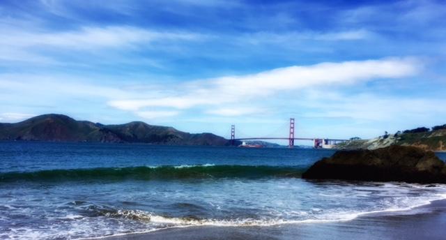 1. Convergence of China Beach, San Francisco Bay and Presidio, San Francisco, California; Copyright © 2016 Sally W. Donatello All Rights Reserved