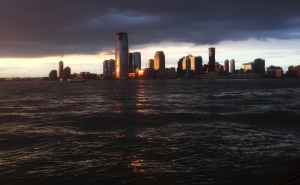 Sunset in Lower Manhattan; All Rights Reserved 2017 Sally W. Donatello